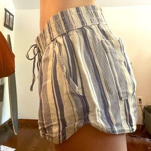 Beach shorts blue and white stripes vintage